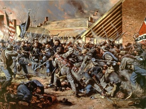 Battle of Franklin: Opdycke's Brigade repulse the Confederate Breakthrough at Franklin, by Don Troiani.